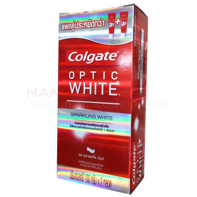 Colgate toothpaste Optic White Sparkling White pack 2x100g