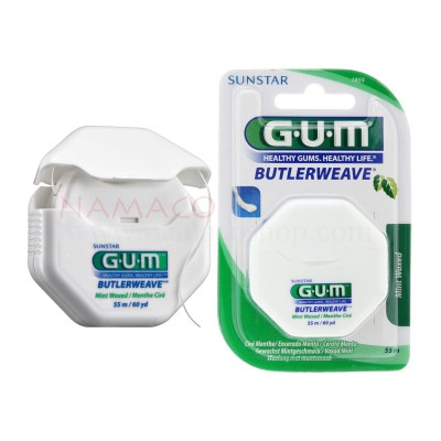 GUM ButlerWeave Floss, mint waxed 55m