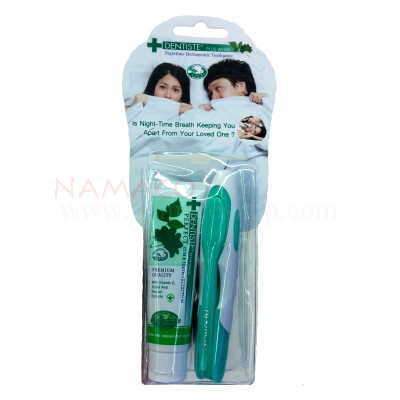Dentiste travel pack toothbrush + toothpaste 20g
