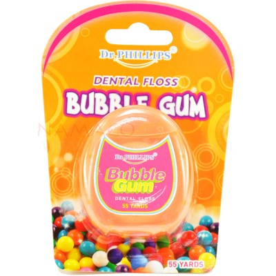 Dr. Phillips dental floss Bubble Gum wax mint 50m