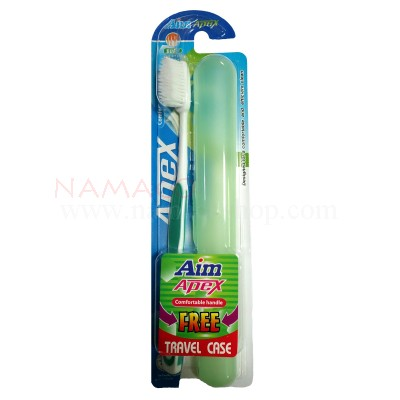 Aim Apex toothbrush Soft tapered bristles