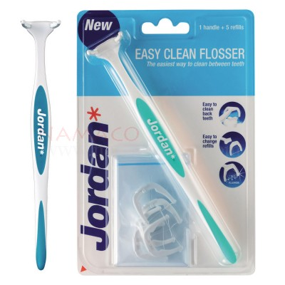 Jordan easy clean flosser handle+ 5 refill