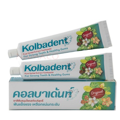 Kolbadent toothpaste thai herbal original set 2x160g