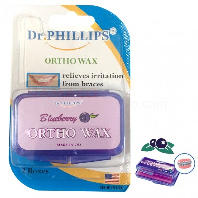 Dr. Phillips ortho wax blueberry flavor 2 box/pack