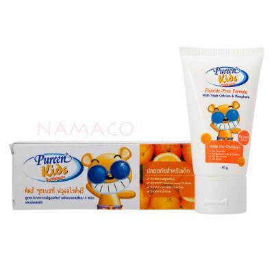 Pureen kids toothpaste Fluoride free orange flavor 40g