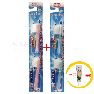 Sparkle IONIC Toothbrush Refill 2 pack