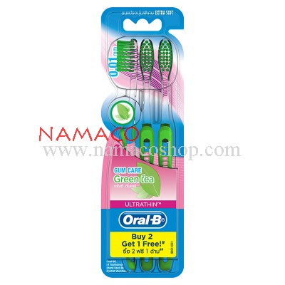 Oral-B toothbrush green tea pack 3