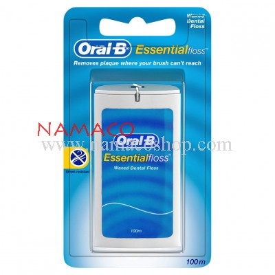 Oral-B Essential Dental Floss waxed 100m
