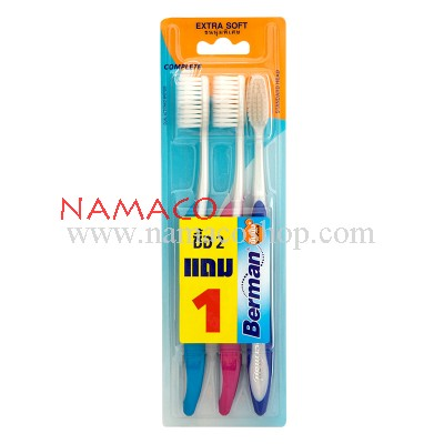 Berman toothbrush complete extra soft pack 3