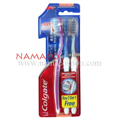 Colgate toothbrush Slim Soft Dual Action pack 3pcs