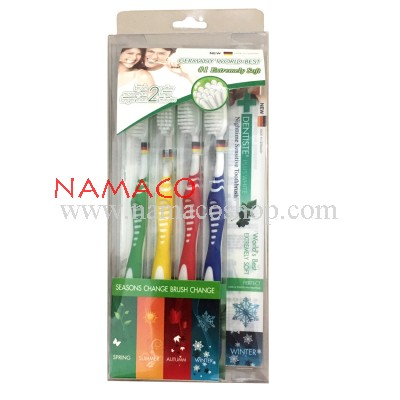 Dentiste toothbrush 4 seasons 4pcs/pack