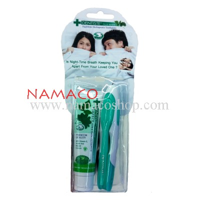 Dentiste travel pack toothbrush + toothpaste 20g
