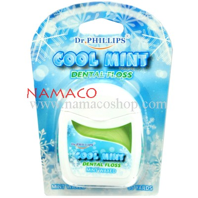 Dr. Phillips dental floss Cool Mint waxed mint 50m