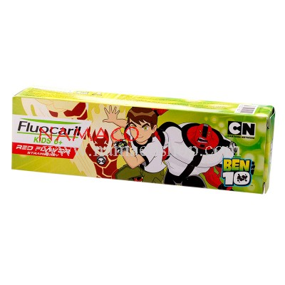 Fluocaril kids toothpaste age 6+, red flavor, Ben 10, 65g