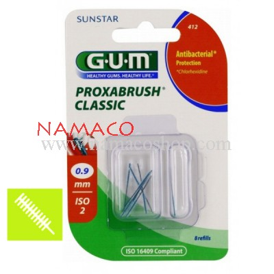 GUM Proxabrush Classic 0.9mm 8 refills 412