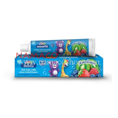 Kodomo kids Gel toothpaste bubble fruit flavor 40g