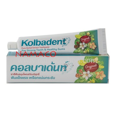 Kolbadent toothpaste thai herbal original 160g