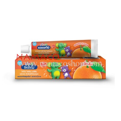 Kodomo kids Gel toothpaste orange flavor 40g
