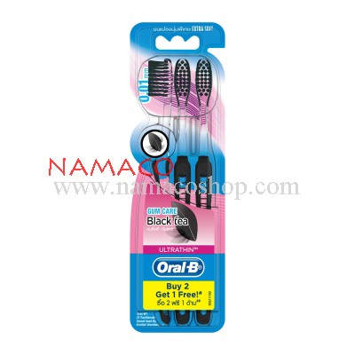 Oral-B toothbrush black tea pack 3