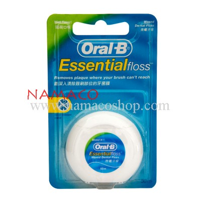 Oral-B Essential Dental Floss waxed mint 50m