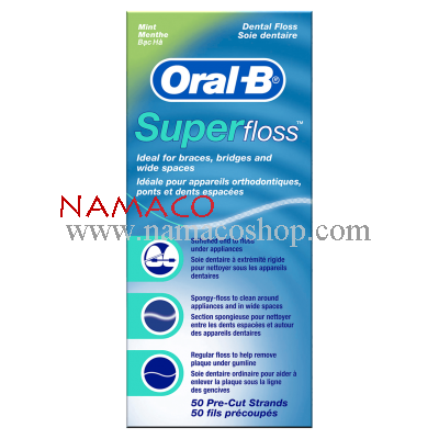 Oral-B Super Floss waxed mint 50pcs
