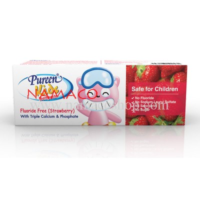 Pureen Kids toothpaste Fluoride free strawberry flavor 40g