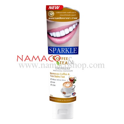 Sparkle toothpaste Coffee & Tea whitening 90g