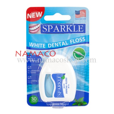 Sparkle Dental floss expanding waxed mint 30m