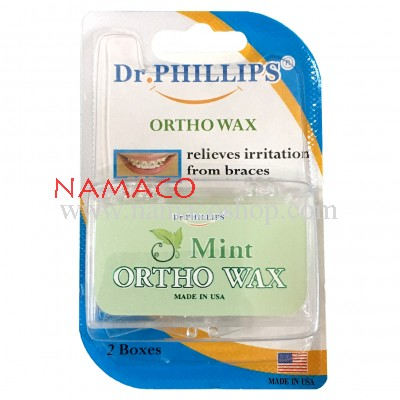 Dr. Phillips Ortho wax mint 2box/pack